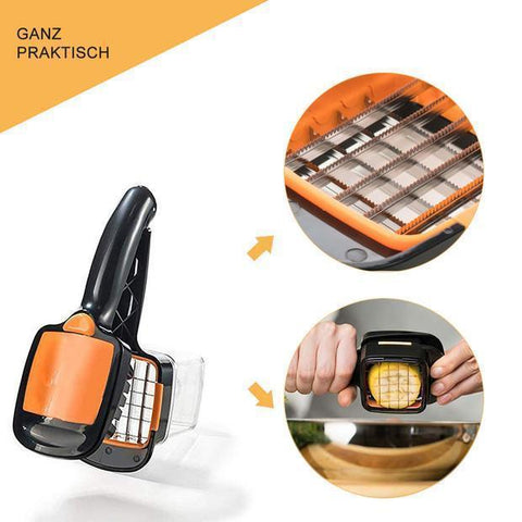 Image of Quick Cut: Smallest slicer that offers you 5 different cuts for fruits and vegetables!