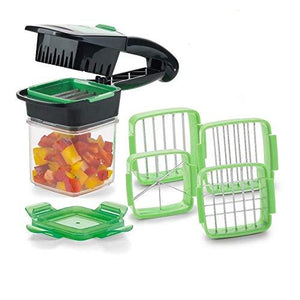 Quick Cut: Smallest slicer that offers you 5 different cuts for fruits and vegetables!