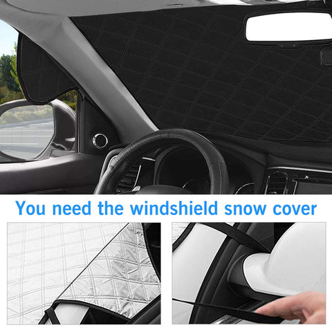 Image of Magnetic Car Windscreen Cover - All Seasons Protector - Beeline-Xpress