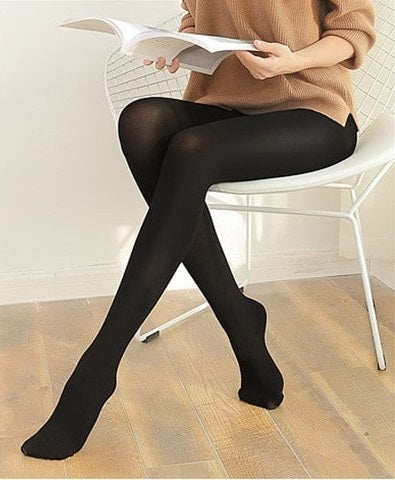 Image of Women's Strong Hard-Wearing Pantyhose: Prevents Sagging Hip - Black - Beeline-Xpress