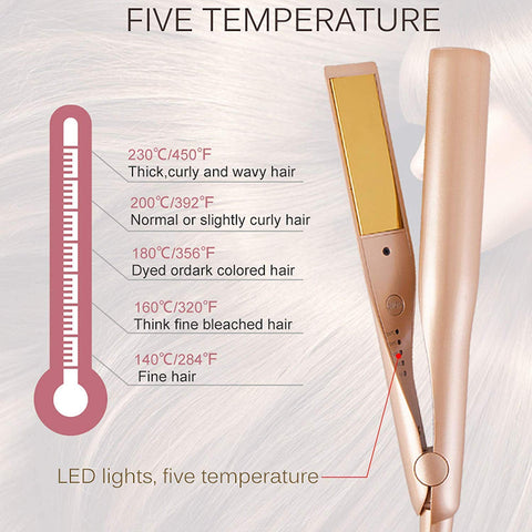 Procurler: 2 in 1 Professional Ceramic Styling Hair Straightener & Curler