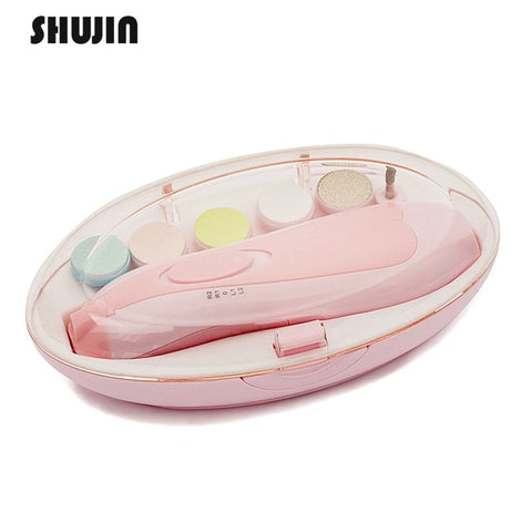 Image of Baby Nail Trimmer: Electric nail sander for baby with LED front light