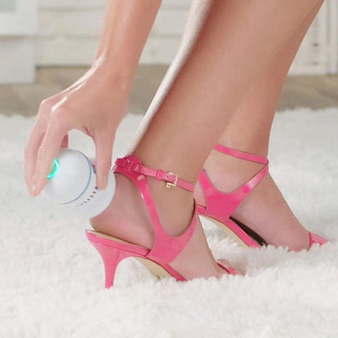 Image of Electric Foot File Vacuum Callus Remover: Feet Care for Hard Cracked Skin - Beeline-Xpress