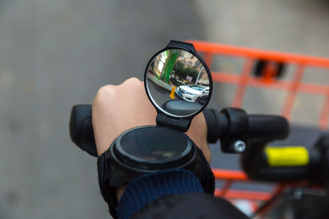 Bicycle Wrist Safety : Comfortable Wide-Angle Rear-View Mirror