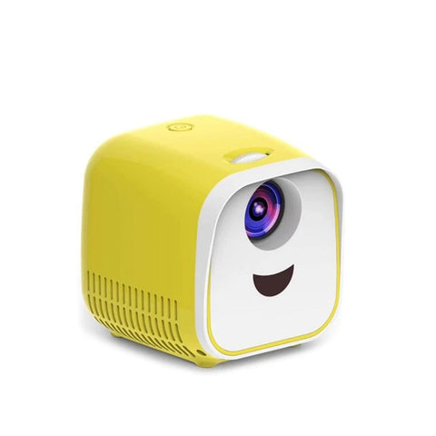 Image of Mini New Generation Video Projector : Suitable for Home, Party, Children and Office - Yellow - Beeline-Xpress