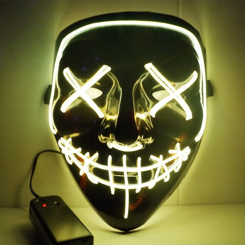 Image of Neon Led Glowing Mask For All Occasions (Halloween, Costume Party,Cosplay)