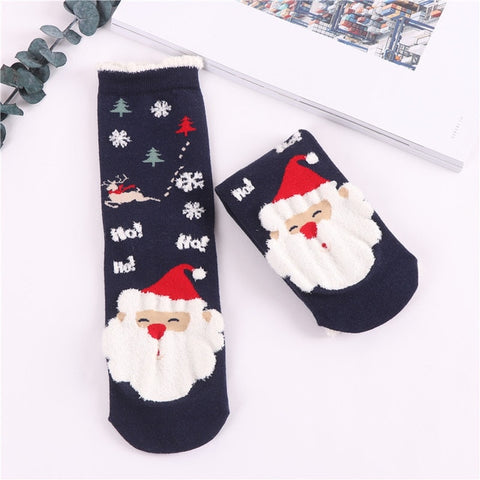 Christmas Socks: Comic Pattern Socks, (3 pairs)