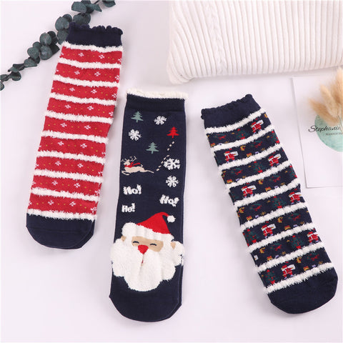 Image of Christmas Socks: Comic Pattern Socks, (3 pairs)