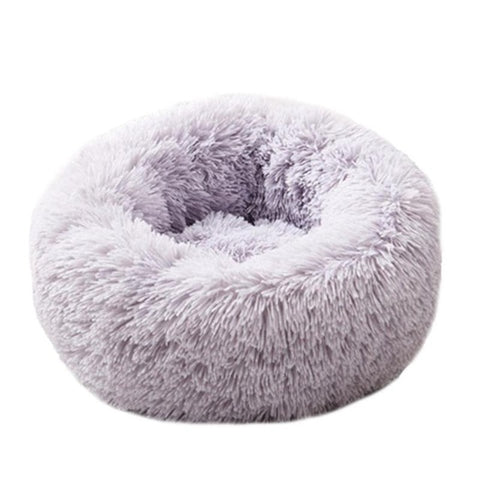 Image of Pet cushion: Comfortable and Warm Velvet Dog, Cat Cushion - Grey / 50cm - Beeline-Xpress