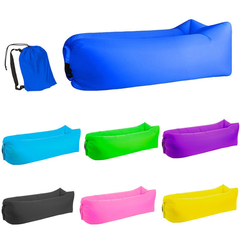 Image of Quick-inflatable soft bag air couch sofa: Can be easily inflated within 10 seconds without a pump - Beeline-Xpress