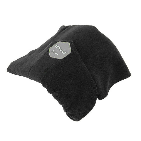 Image of Dream Scarf Travel Pillow: Scientifically Proven Neck Support Pillow - Black - Beeline-Xpress