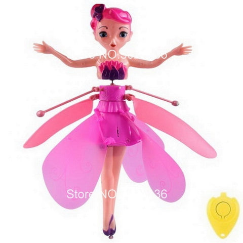 Flying Fairy Doll: Fairy that can fly with rainbow colors - Pink - Beeline-Xpress