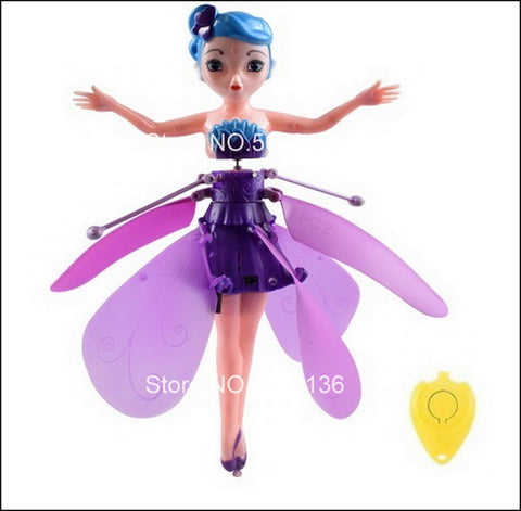 Flying Fairy Doll: Fairy that can fly with rainbow colors - Purple - Beeline-Xpress