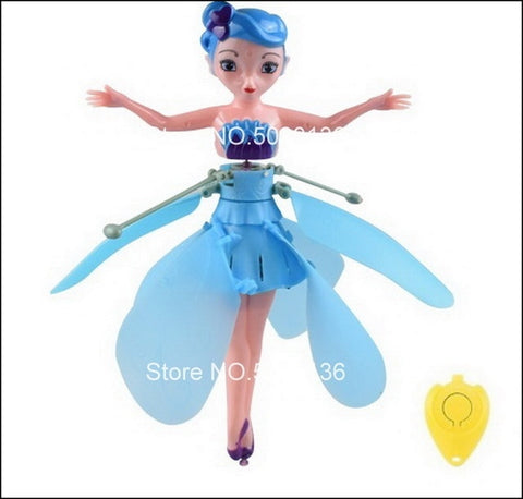 Flying Fairy Doll: Fairy that can fly with rainbow colors - Blue - Beeline-Xpress