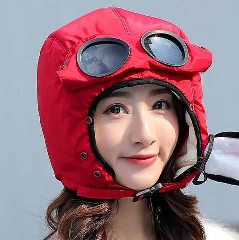 Image of Unisex Winter Hat: Windproof, Warm, Waterproof and Ski Cap - Red / L(adult) - Beeline-Xpress