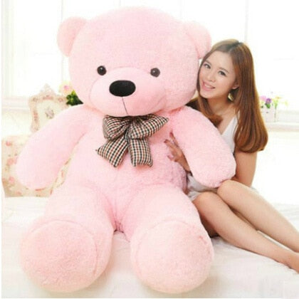 Image of Big teddy bear: send your gift with a special personalized message - 120cm / Pink - Beeline-Xpress