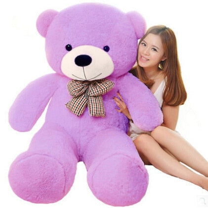 Image of Big teddy bear: send your gift with a special personalized message - 120cm / Purple - Beeline-Xpress