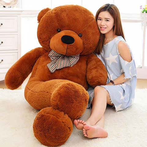 Image of Big teddy bear: send your gift with a special personalized message - 120cm / Brown - Beeline-Xpress