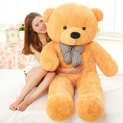 Image of Big teddy bear: send your gift with a special personalized message - 100cm / yellow - Beeline-Xpress