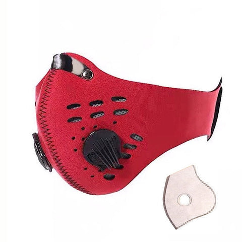 Image of Dust mask: Muffle filter with multi-layer air cleaner, Best for Ongoing Virus - Red / 1 PC - Beeline-Xpress