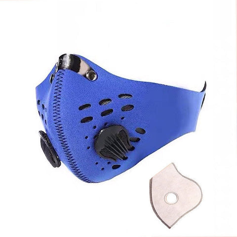 Image of Dust mask: Muffle filter with multi-layer air cleaner, Best for Ongoing Virus - Blue / 1 PC - Beeline-Xpress