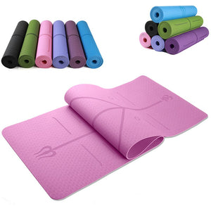 Warrior Grip Yoga Mat: With Asana Align Body Alignment System - Beeline-Xpress