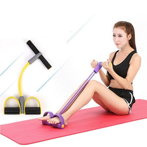 Fitness band sit-up exercise equipment: Train effectively and Strengthen your waist - Yellow - Beeline-Xpress