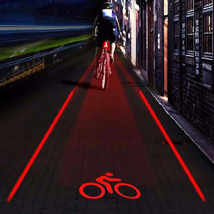 Laser Projector Rear Bicycle Light: Remind traffic to keep distance