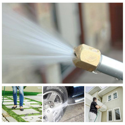 Hydro Jet: Can perform water jet amplifier as attachment for your garden hose for powerful cleaning!