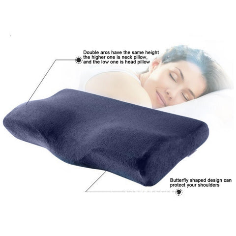 Image of Orthopedic pillow Viscoelastic: Memory foam neck sleeping pillow