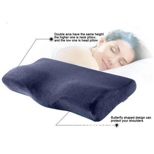 Orthopedic pillow Viscoelastic: Memory foam neck sleeping pillow