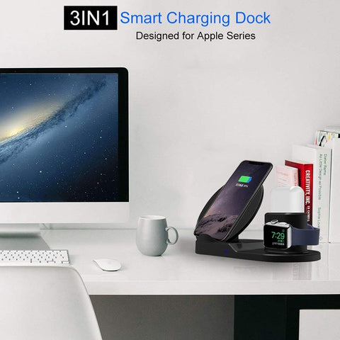 Image of 3 in 1 Smart Fast Charger : Designed for all SmartPods and QI-Enabled Cell Phones