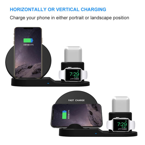 3 in 1 Smart Fast Charger : Designed for all SmartPods and QI-Enabled Cell Phones