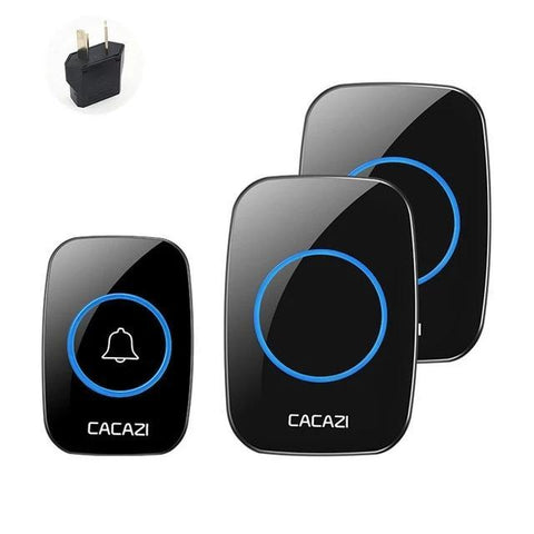 Image of Wlan Doorbell: Ideal For Office, Home, Hospital, Factory, Restaurant - Black 1X2 AU - Beeline-Xpress
