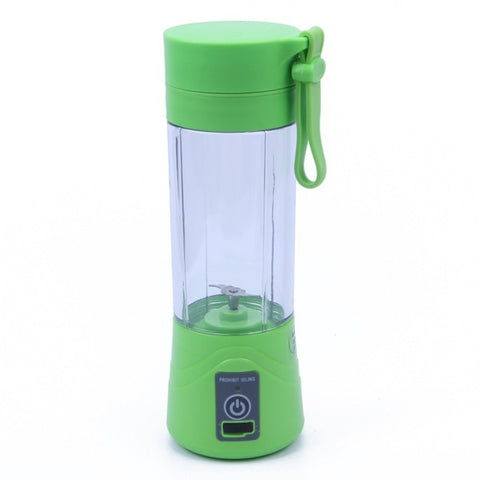 Portable Rechargeable Juicer: Enjoy Fresh Juice Anytime & Anywhere - GREEN - Beeline-Xpress