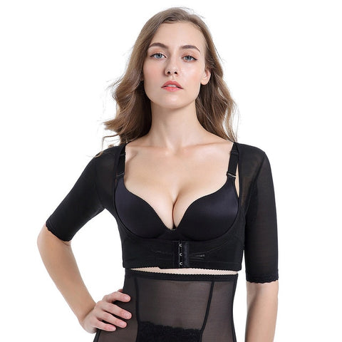 Women's Posture Corrector: Bra Breast Lift, Arm Shaper & Back Support - Black / XXL - Beeline-Xpress