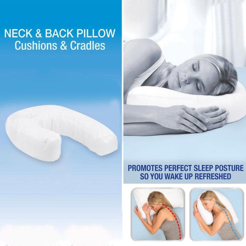 Image of Side Sleeper: U-Shape Headrest Side Sleepers Cushion Correct spine