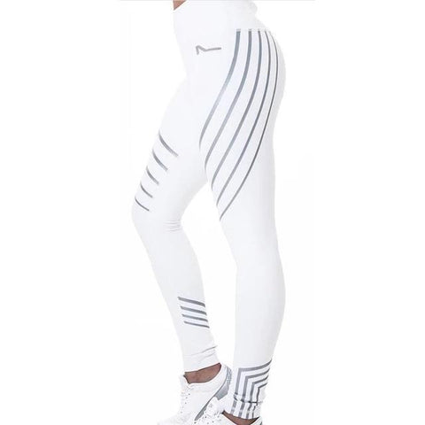 Women's High Yoga Pants: Reflective Sweaty Betty Leggings for Women - White / S - Beeline-Xpress