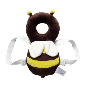 Baby Head Protector & Fluffy pillow: Head and back protector for baby - Coffee Hollow Bee - Beeline-Xpress