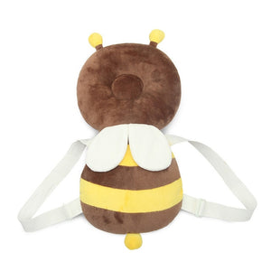 Baby Head Protector & Fluffy pillow: Head and back protector for baby - Coffee Solid Bee - Beeline-Xpress
