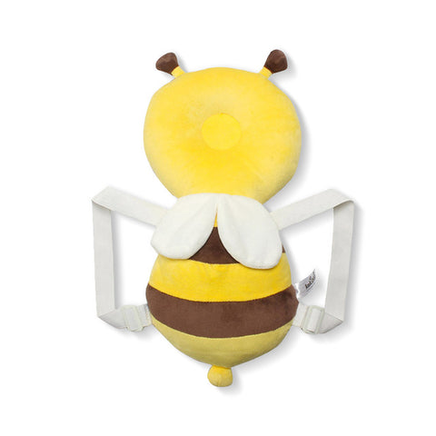 Baby Head Protector & Fluffy pillow: Head and back protector for baby - Yellow Solid Bee - Beeline-Xpress