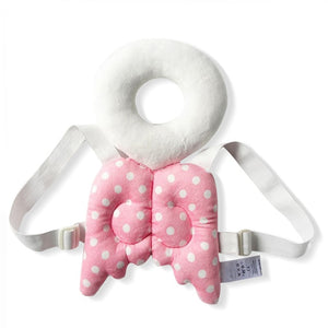 Baby Head Protector & Fluffy pillow: Head and back protector for baby - Pink Angel - Beeline-Xpress