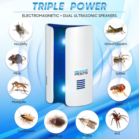 Ultrasonic Non-Toxic Insect and Rodent Repeller - Beeline-Xpress