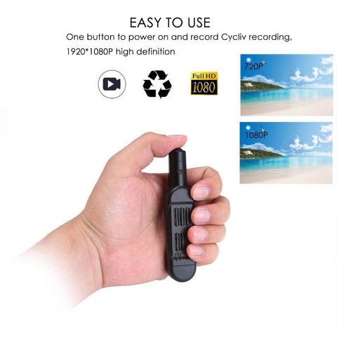 MiniCam: Secret Portable HD Audio & video Recorder Pocket Pen - Beeline-Xpress