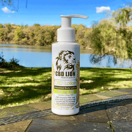 Lotion: CBD LION 4fl oz/120ml 300mg