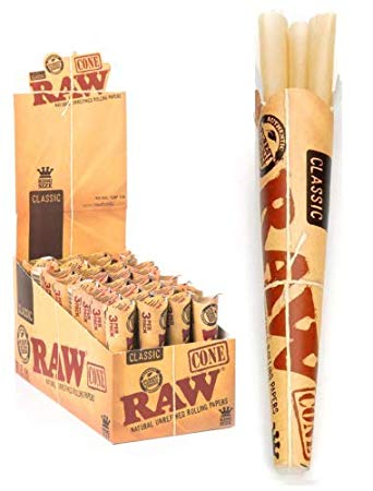 RAW PRE-ROLLED CONE KING SIZE 12 PACK