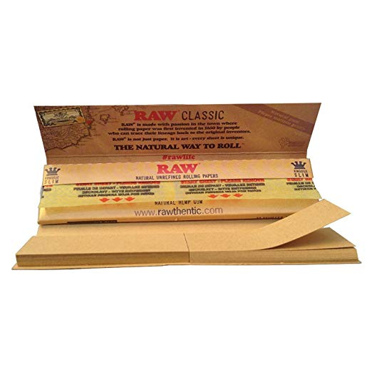 RAW CLASSIC PAPER KSS CONNOISSEUR WITH PRE-ROLLED TIPS