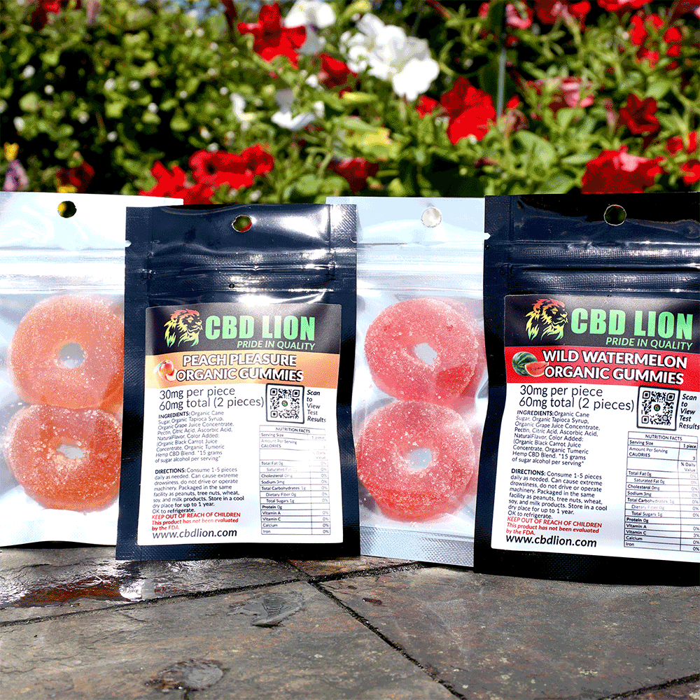 CBD LION - 60mg PIECE ORGANIC GUMMIES