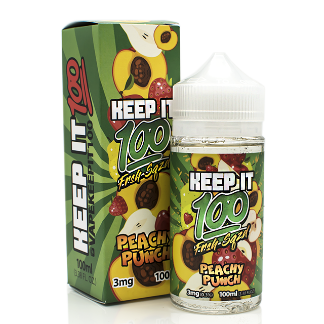 Keep It 100 E-Liquid: Peachy Punch 100mL