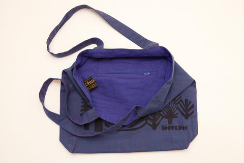 dhukuti fair trade bag blue
